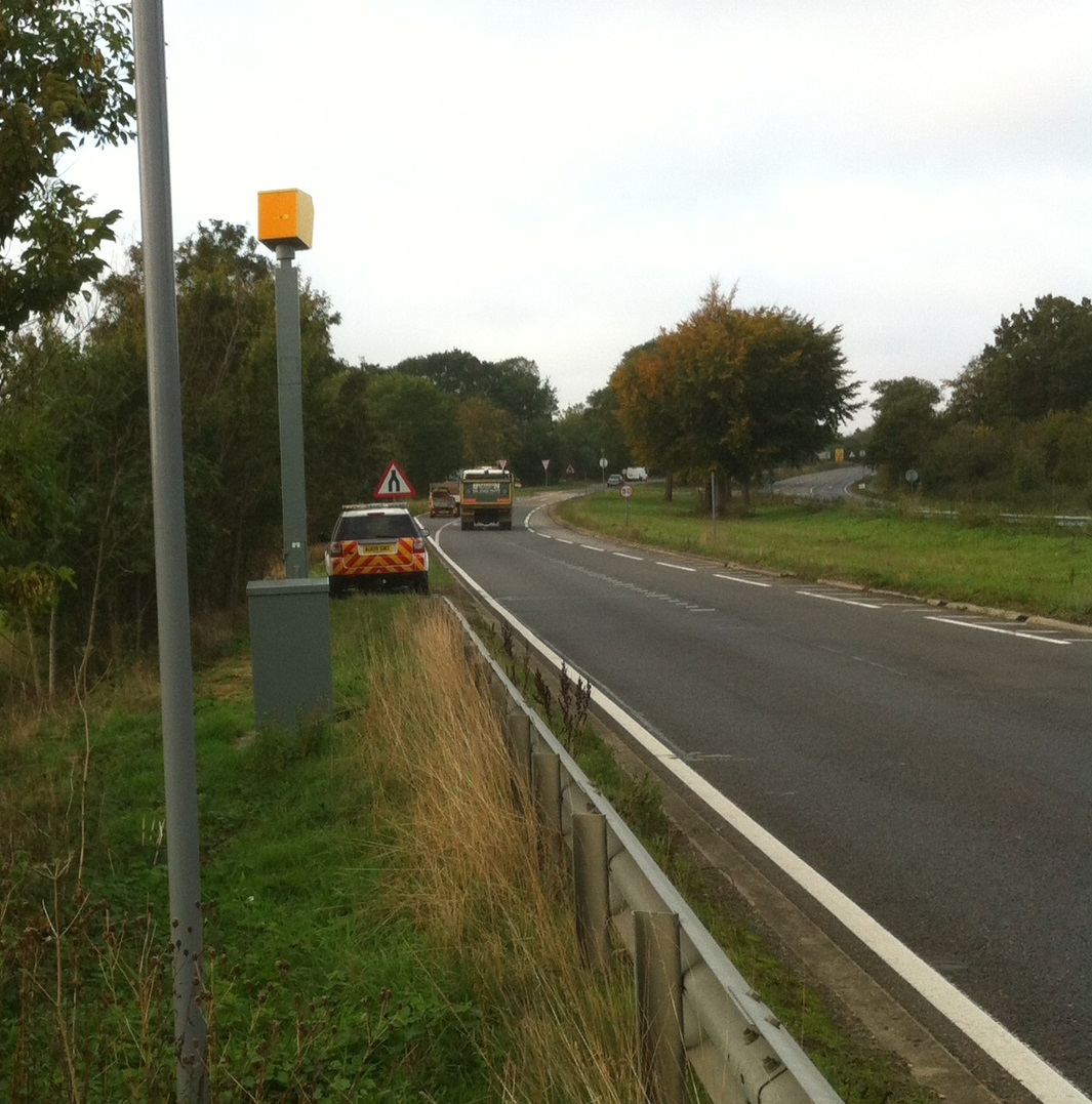 A12 Benhall speed camera