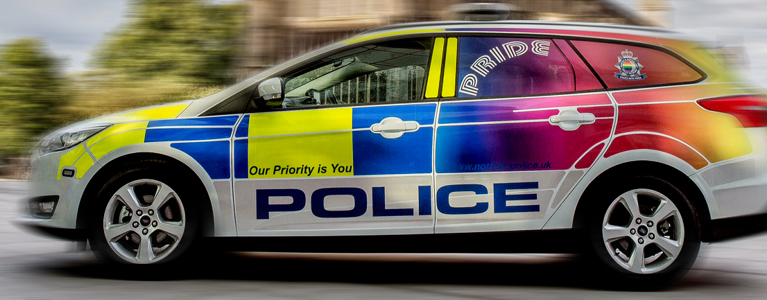 Pride patrol car