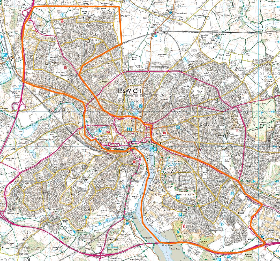 Ipswich Map showing S60 area in orange